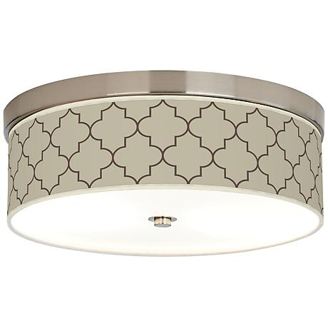 Tangier Taupe Giclee Energy Efficient Ceiling Light