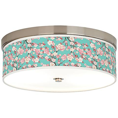 Cherry Blossoms Giclee Energy Efficient Ceiling Light