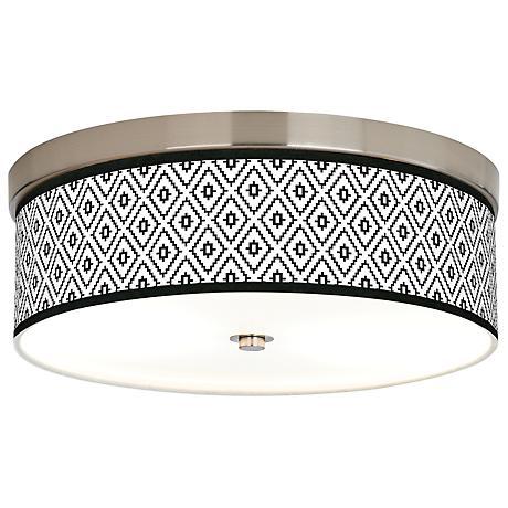 Black Diamonds Giclee Energy Efficient Ceiling Light