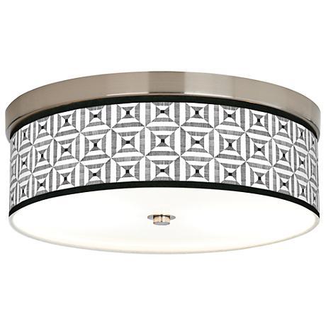 Tile Illusion Giclee Energy Efficient Ceiling Light