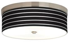 Bold Black Stripe Giclee Energy Efficient Ceiling Light