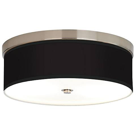 All Black Giclee Energy Efficient Ceiling Light