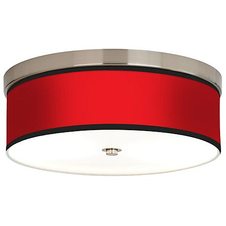 All Red Giclee Energy Efficient Ceiling Light