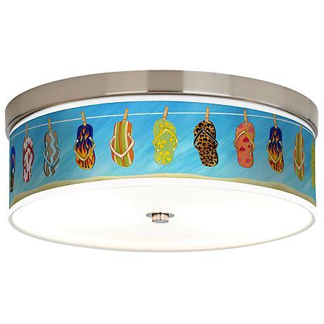 Summer Flip-Flops Giclee Energy Efficient Ceiling Light