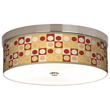 Retro Dotted Squares Giclee Energy Efficient Ceiling Light