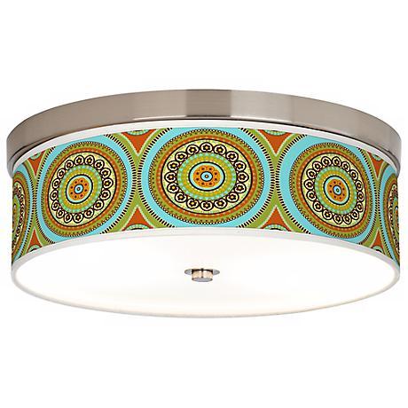 Stacy Garcia Arno Mosaic Daybreak Giclee Shade Ceiling Light