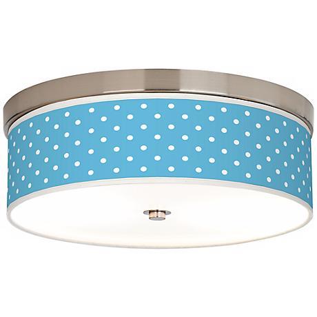 Mini Dots Aqua Giclee Energy Efficient Ceiling Light
