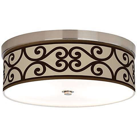 Cambria Scroll Giclee Energy Efficient Ceiling Light