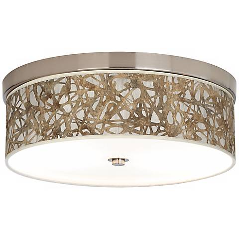 Organic Nest Nickel Energy Efficient Ceiling Light