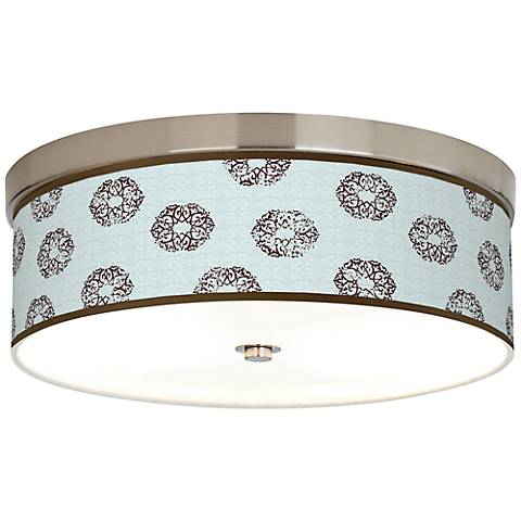 Weathered Medallion Giclee Energy Efficient Ceiling Light