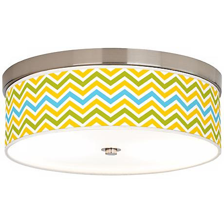 Citrus Zig Zag Giclee Energy Efficient Ceiling Light
