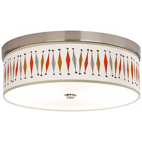 "Tremble 14"" Wide Giclee Energy Efficient Ceiling Light"