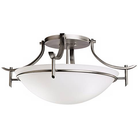 """Olympia Antique Pewter 24"""" Wide Ceiling Light Fixture"""
