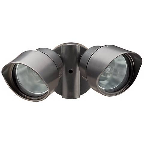 Halogen Exterior Wall Lights : Bronze Designer Twin Head Halogen Outdoor Flood Wall Light - #H9548 Lamps Plus