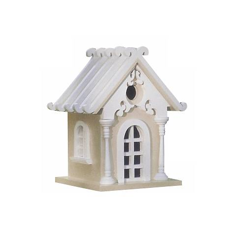 Yellow Storybook Cottage Bird House