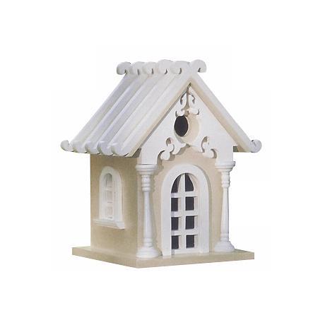 Yellow Storybook Cottage Bird House
