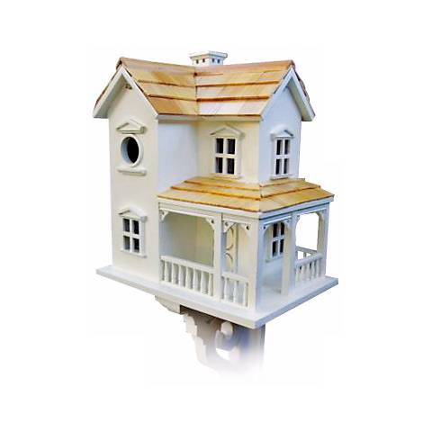 "Cozy Two-Story 12"" High Farmhouse Bird House"