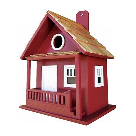 Little Red Cabin Bird House
