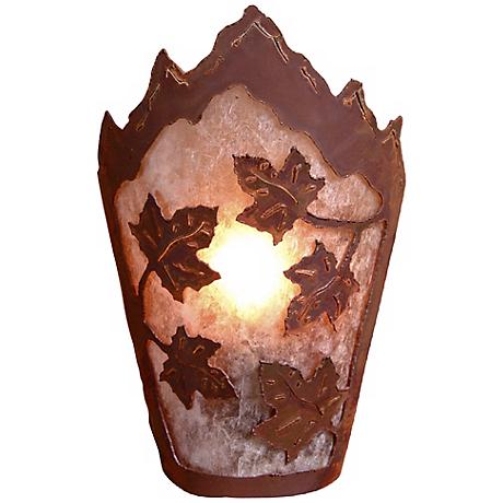 """Decatur Collection Maple Leaf 10"""" High Wall Sconce"""