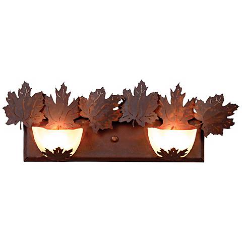 "Avalanche Collection Maple 24"" Wide Bathroom Light Fixture"
