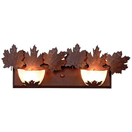 """Avalanche Collection Maple 24"""" Wide Bathroom Light Fixture"""