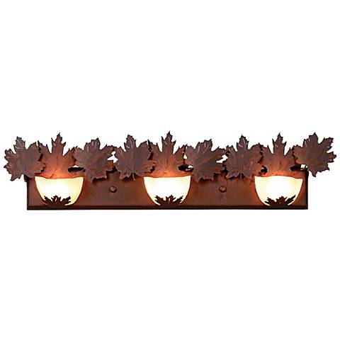 """Avalanche Collection Maple 36"""" Wide Bathroom Light Fixture"""