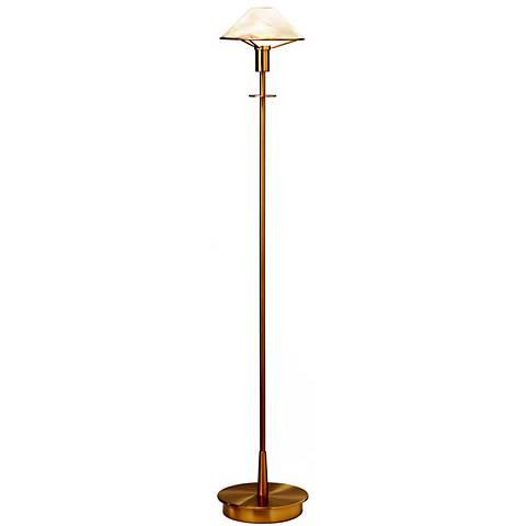 Holtkoetter Antique Brass Alabaster Brown Floor Lamp