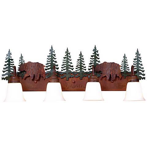 "Wasatch Collection Bear 36"" Wide Bathroom Light Fixture"