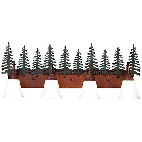 """Wasatch Collection Cedar 36"""" Wide Bathroom Light Fixture"""
