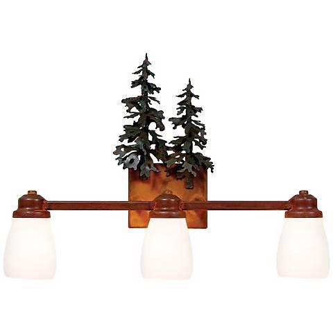 "Parkshire Collection 3D Cedar 22"" Wide Bathroom Light"