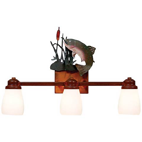 "Parkshire Collection Trout 22"" Wide Bathroom Light Fixture"