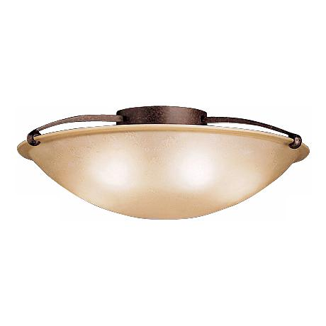"""Kichler Etched Sunset Glass 25"""" Wide Ceiling Light"""