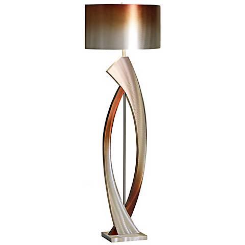 Nova Swerve Brushed Aluminum Floor Lamp