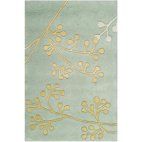 Mayfair Collection Blue Area Rug