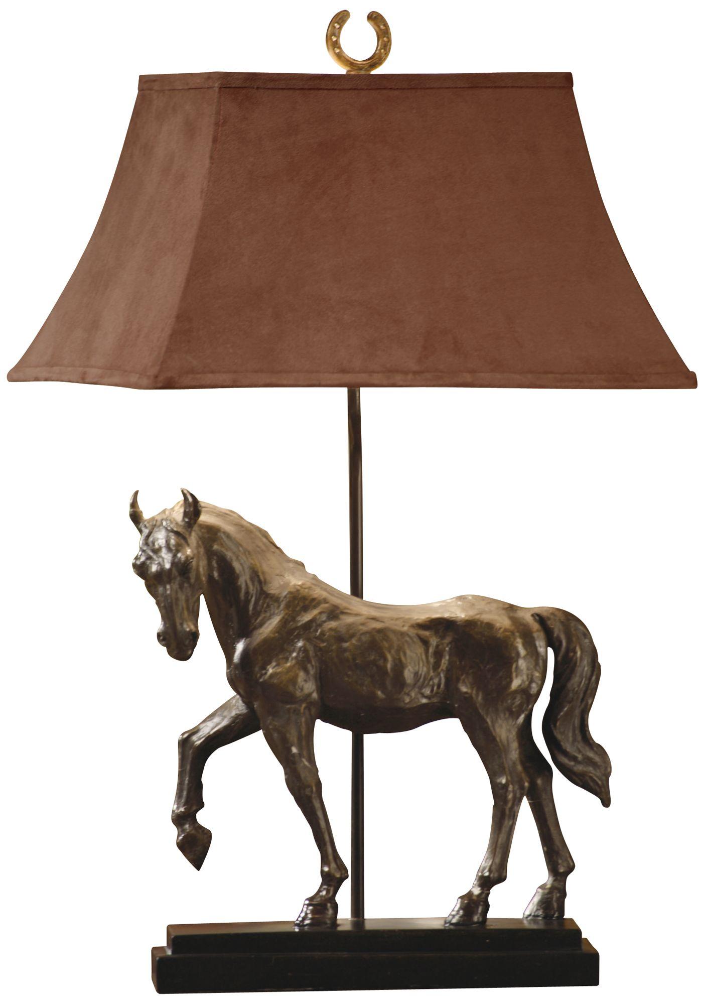 Triple Crown Race Horse Table Lamp