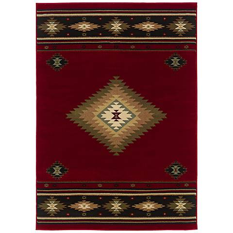 Southwest Red Area Rug
