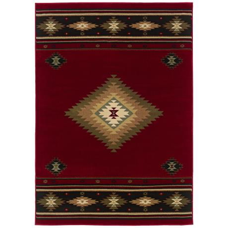 Southwest Red Area Rug J1532 Lamps Plus