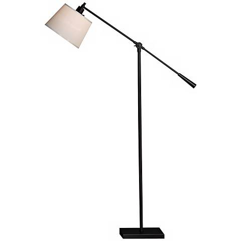 Robert Abbey Real Simple Matte Black Boom Floor Lamp