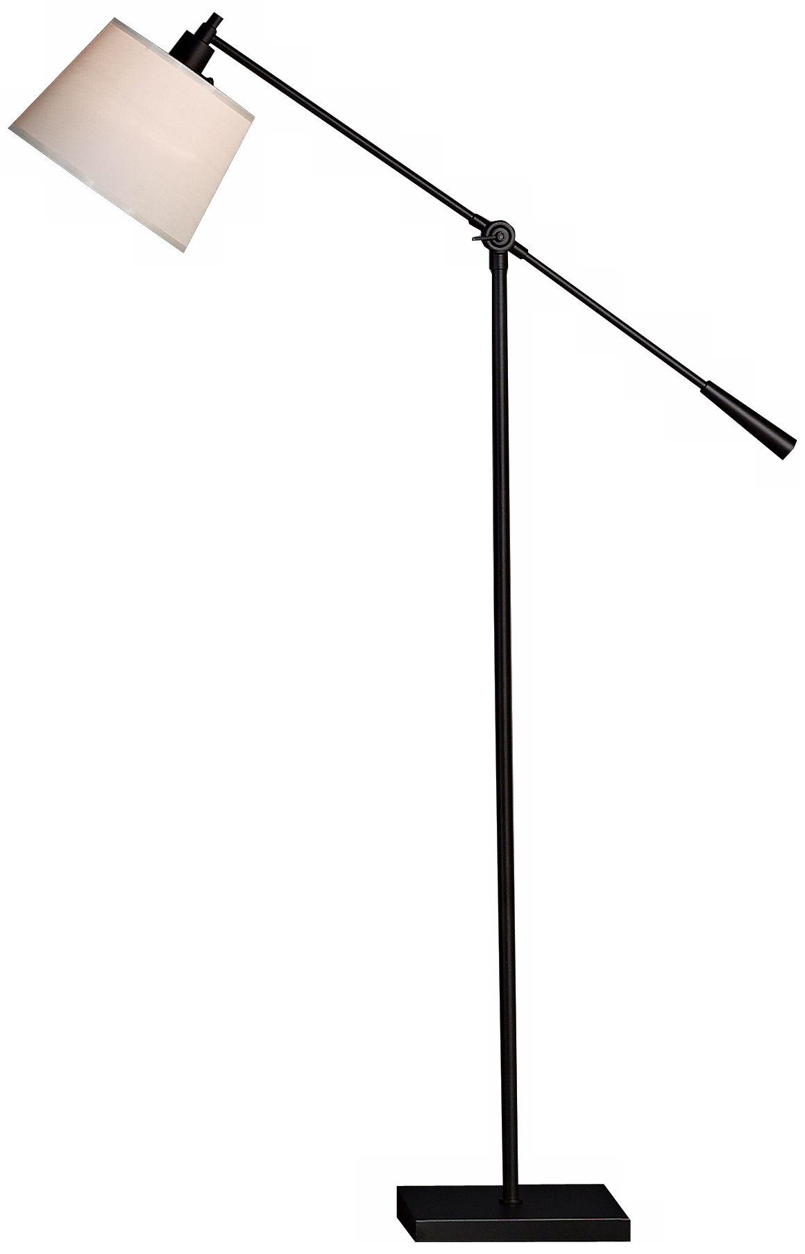 robert abbey real simple matte black boom floor lamp - Arc Lamps