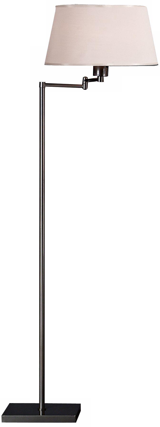 robert abbey real simple gunmetal swing arm floor lamp - Robert Abbey Lighting