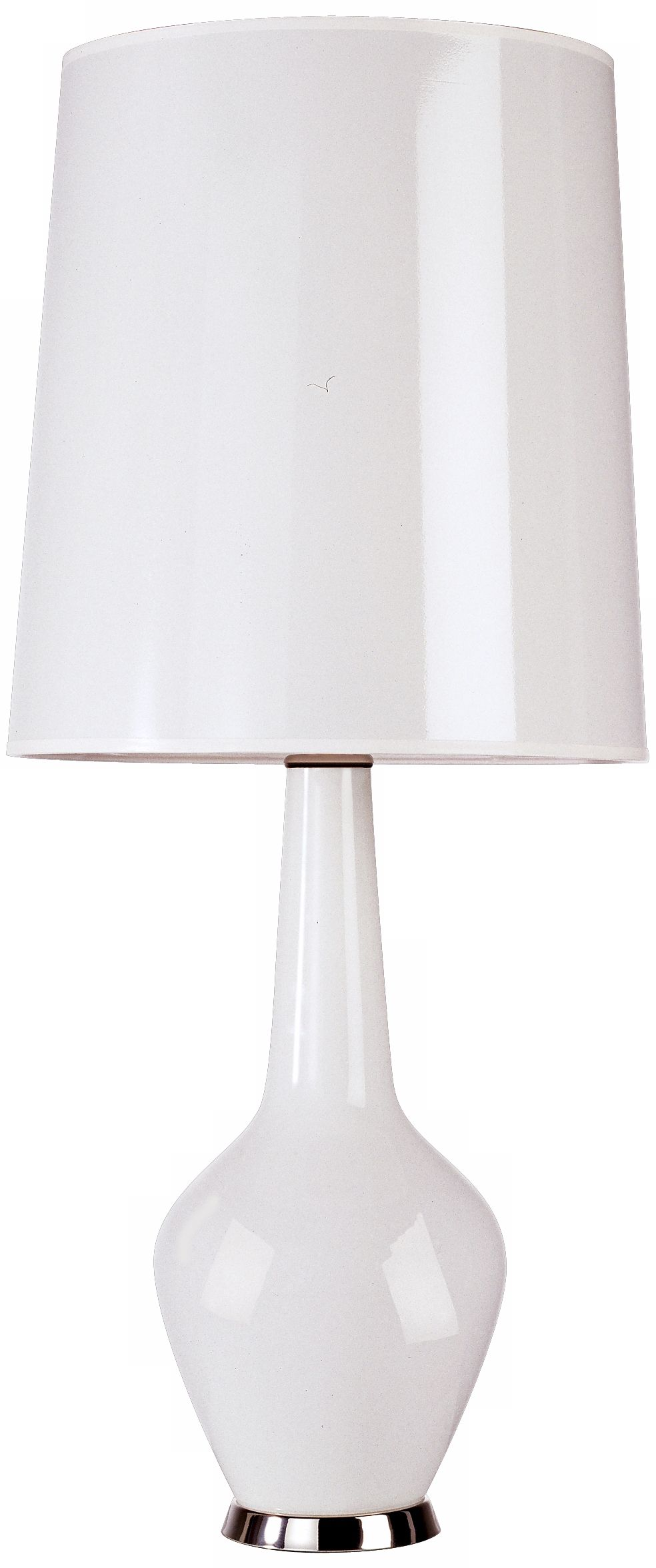 Jonathan Adler Capri Tall White Glass Table Lamp