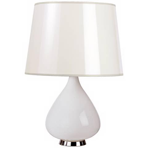 Jonathan Adler Capri Short White Glass Table Lamp