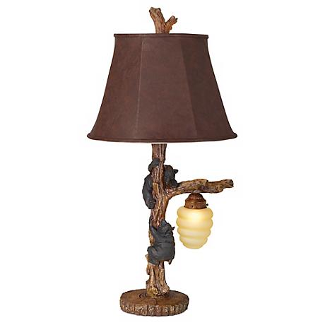Honey Bear Accent Table Lamp with Night Light