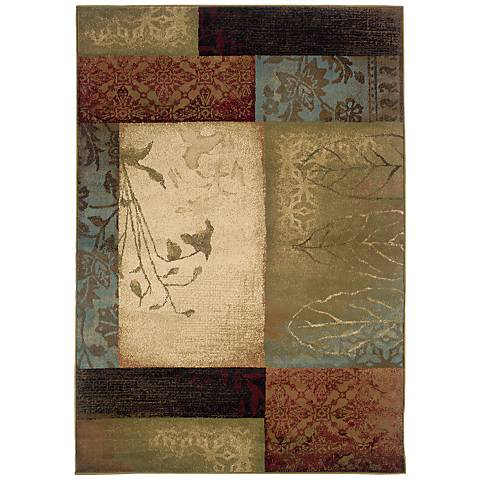 Harvest Collage Squares Area Rug