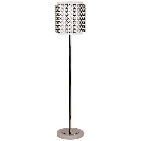 Robert Abbey Parker Polished Nickel Finish Floor Lamp