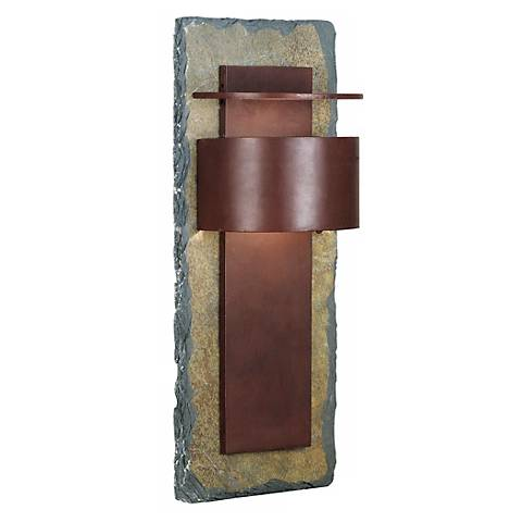 "Kembra Collection Slate Copper 24"" High Outdoor Wall Sconce"