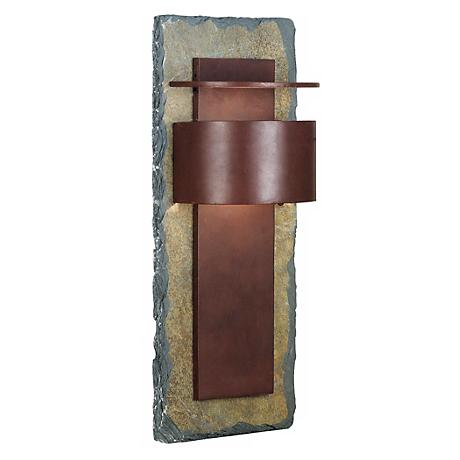 """Kembra Collection Slate Copper 24"""" High Outdoor Wall Sconce"""