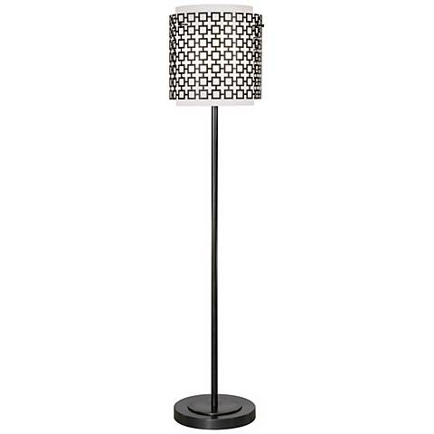 Robert Abbey Parker Bronze Finish Floor Lamp