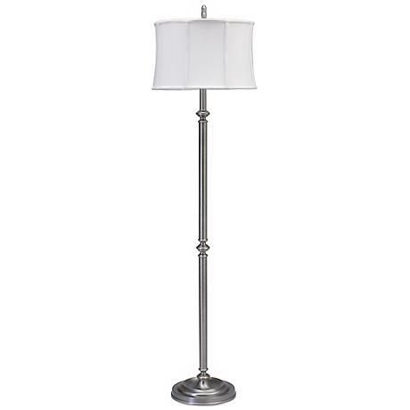 House of Troy Coach Floor Lamp Antique Silver Finish