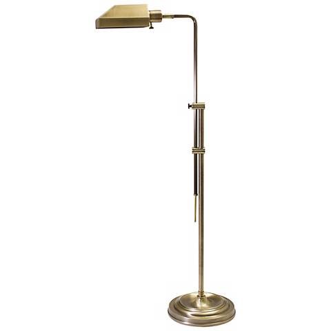 House of Troy Coach Pharmacy Floor Lamp Antique Brass